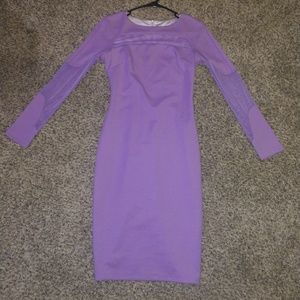 Purple emage long sleeve dress